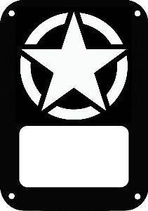"OSCAR MIKE MILITARY Star Jeep Wrangler Tail Light Guard. 1/8"" aluminum powder coat matte black 2pc set - $59.99 dnajeep.com 100% made in the USA"
