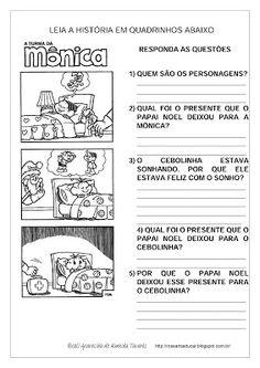 Rosearts- Atividades para imprimir: Interpretação de história em quadrinhos/ Papai Noel