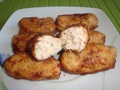 Mama jídla: krokety s kuřecím masem, slaninou, cuketou a sýrem