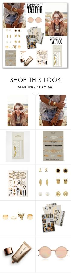 """Tattoo - 2"" by ludmyla-stoyan ❤ liked on Polyvore featuring beauty, Flash Tattoos, Pieces, Aéropostale, Charlotte Russe, Nude by Nature, Linda Farrow, Ellis Faas and temporarytattoo"
