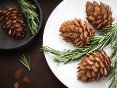 Etsy.com handmade and vintage goods ... homemade edible 'pine cones' made from almond paste and sliced almonds.