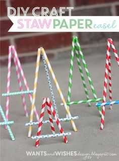 Paper Straw Easel - cute for price cards!
