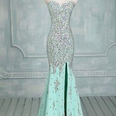 Sweetheart Beaded Prom Dress,Mermaid Prom Dress,Custom Made Evening Dress,#1761