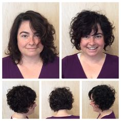 Best haircut of my life. Pinning to share with other round-faced curly tops out there.