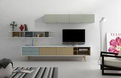 Mueble nordico predomina el color blanco, siempre acompañado de colores vibrantes como el azul o el verde, que hacen destacar del resto de la decoración