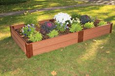 Frame It All One Inch Series 4ft. x 8ft. x 5.5in. Composite Raised Garden Bed Kit