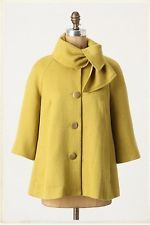 NEW Anthropologie Tabitha Ascot Swing Coat Size S L
