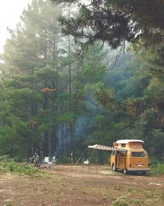 """Gefällt 12 Tsd. Mal, 75 Kommentare - Project Vanlife (@project.vanlife) auf Instagram: """"In the Woods  Comment if your favourite thing about Camping!  by @summerofseventyfive"""""""