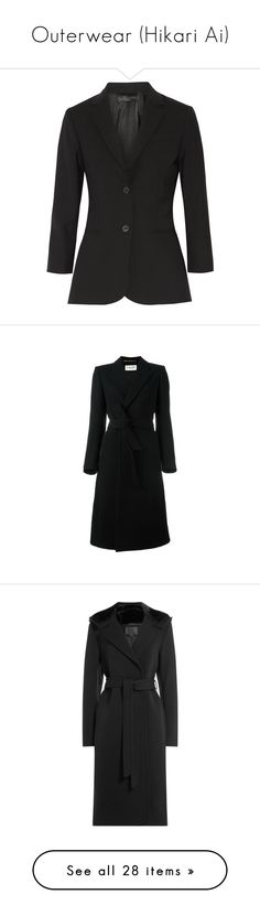 """Outerwear (Hikari Ai)"" by hikari-ai on Polyvore featuring outerwear, jackets, blazers, blazer, suit, stretch blazer, blazer jacket, woven jacket, coats и black"