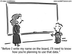 Before I write my name on the board, I'll need to know how you're planning to use that data.