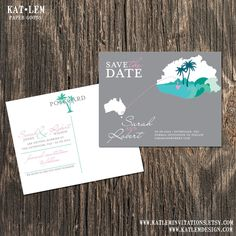 Fiji  Save the Date  Destination Wedding by katleminvitations, $15.00
