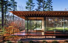 Glass/Wood House by Kengo Kuma & Associates, New Canaan, Connecticut, photographed by Scott Frances http://www.architecturaldigest.com/resources/features/2011/07/scott-frances-monovision-photography-book#slide=2