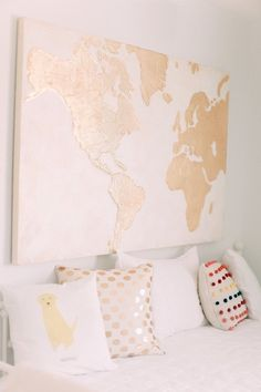 Travel themed girls nursery More spaces decor Map Nursery, Travel Theme Nursery, Girl Nursery Themes, Nursery Bedding, Bedroom Themes, Bedroom Decor, Themed Nursery, Nursery Ideas, Bedroom Ideas