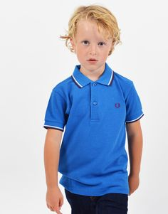 dbe628b74b94 Fred Perry Kids Tipped Polo Shirt Atlantic Marl. Terraces Menswear