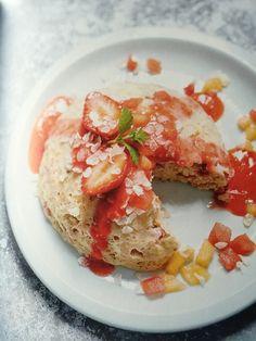 5 points pour un bowlcake ........ miam, miam Recette crée sur WW donc les points sont ok ;-) 3 fraises 1 banane bien mûre 1 blanc d'oeuf 45 ml de lait demi écrémé 40 g de flocons d'avoine ( ou flocons de riz ) 1 cc de levure chimique Si vous faites un...
