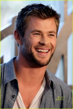 Le joli sourire de Chris Hemsworth
