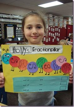 Fractions and the butterfly/caterpillar unit in 2nd grade were pretty close together...so this would be perfect!