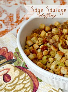 Easy Sage Sausage Thanksgiving Stuffing Recipe