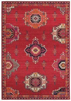 Oriental Weavers Sphinx Bohemian x Pink / Orange Area Rug Orange Area Rug, Orange Rugs, Yellow Rugs, Carpet Runner, Rug Runner, Orange Carpet, White Carpet, Transitional Rugs, Carpet Colors