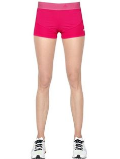 ADIDAS BY STELLA MCCARTNEY Climachill Running Shorts, Fuchsia. #adidasbystellamccartney #cloth #shorts