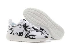 finest selection 99fbd 0170a UK Trainers Roshe One Nike Roshe Run Pattern Mens Palm Trees Black White  Nike Casual