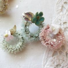 Bottle brush pastel wreaths