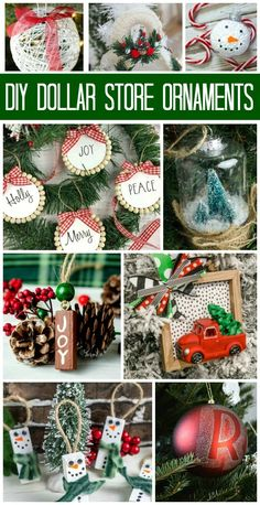 Dollar Store Ornaments | Cheap Christmas Crafts