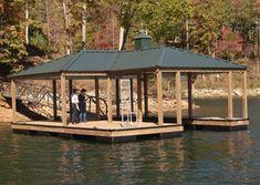 Wahoo Community 4 Slip Aluminum Floating Boat Dock With