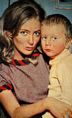 Princess Paola of Liege (later Queen of Belgium) with youngest son, Prince Laurent. 1967