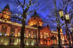 Belfast City Hall, Northern Ireland  I walked along the front of the building and got a great history lesson from my sister.