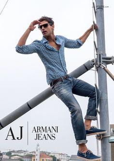 Fabio Mancini + Tomas Skoloudik for Armani Jeans Spring/Summer 2014 Campaign