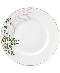 kate spade new york Birch Way Bone China Dinner Plate - Fine China - Macy's Painted Plates, Ceramic Plates, Ceramic Pottery, Hand Painted, Painted Ceramics, Slab Pottery, Thrown Pottery, China Painting, Ceramic Painting