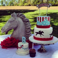 Kentucky Derby Birthday Cake by Tastefully Treated - Kristy, you are amazing!!
