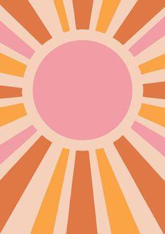 whimsical vintage yellow poster large print solar retro decor star art sun SUN ART PRINT Vintage Sun Print Solar Star Print Whimsical Sun Decor Yellow Sun Art RYou can find Poster prints and more on our website Kunst Poster, Poster S, Poster Wall, Poster Prints, Graphic Art Prints, Vintage Art Prints, Poster Ideas, Wall Art Posters, Graphic Tee Style
