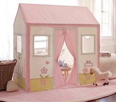 PBKids Cottage Playhouse. Canvas with wood frame.