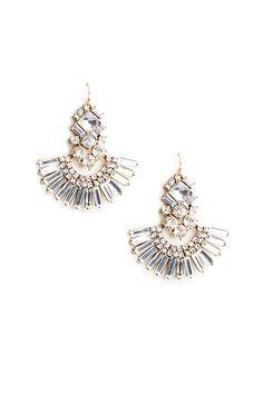 Fan Crystal Earrings. xx www.graceloveslace.com.au