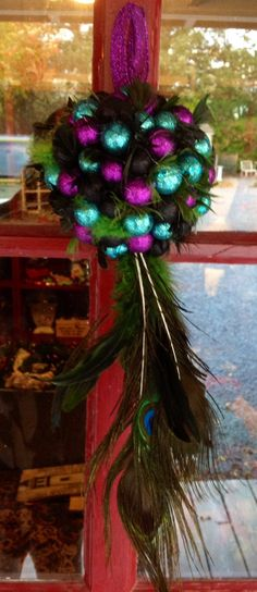 Holiday Kissing Ball Peacock Feather Peacock by MaidenLongIsland  #holidayshop #etsysale #etsyseller #maidenlongisland #etsy #discount #giftshop #holidaygiftguide #stockingstuffer #happyholidays #handmadehome #etsyholiday #etsywedding #etsygifts #etsyhome #etsyholiday #manicmonday #giftsforher #giftsforhim #giftsforkids #etsywebstie #etsyholiday #readytoship