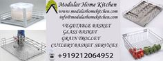 Baskets are very necessary for our kitchen and we use these basket daily in kitchen various purpose. So Modular Home Kitchen teams are design various baskets like glass basket, vegetable basket, cutlery basket and many other basket http://modularhomekitchen.com/baskets.html