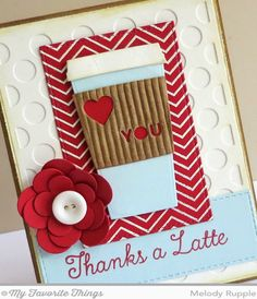 Melody Rupple: A Paper Melody – MFT's October Release Countdown Day 2 - Perk Up - 10/12/14 (MFT: LLD Coffee Cup dies; LLD Per Up stamps; BG Fine Chevron Background stamp; Polka Dot Cover-Up; Tag Builder Blueprints 3; Horizontal Stitched Strips dies; Pretty Posies die; Inside Dies - Gift Card Grooves; Rectangle Stitched; Perk Up stamps).