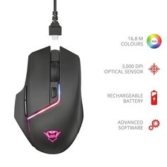 Offerta del giorno: 27,99 € -Sensore ottico 3.000 dpi ad alta precisione; batteria ricaricabile integrata per assicurarsi fino a 30 ore di gioco -Illuminazione RGB personalizzabile; memoria integrata -Software avanzato per programmare pulsanti e luci -Per continuare a giocare durante la ricarica -Portata wireless 8 metri Ergonomic Mouse, Computer Mouse, Trust, Software, 3, Gaming, Pc Mouse, Videogames, Game