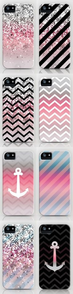 I really like the chevron and anchor ones... the sparkles not so much. #PhoneCase