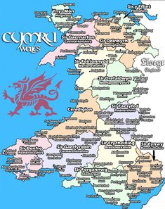 Cymru (Wales) in Cymraeg (Welsh). Source: The Decolonial Atlas Welsh Sayings, Welsh Words, Wales Uk, South Wales, Map Of Wales, Wales Flag, World Map Europe, Learn Welsh, Wales