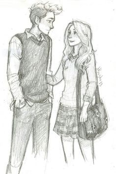 Pin By Benicky573 On Drawings Boy And Girl Sketch Drawings Of