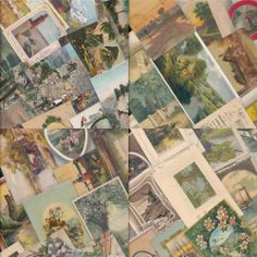~Huge Lot of Old Antique Art~artistic Postcards with Scenes-Scenic~1900's-hhh852