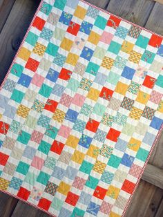 SALE SALE Baby Coin Quilt by Red Pepper Quilts ($79). Somebody should buy this beautiful and cheap-as-chips quilt, since I can't!