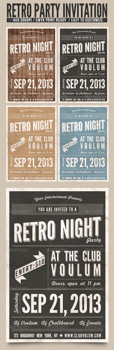 Retro 2013 New Year Party Flyer Template | Template, Clock And New