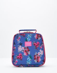 Munch Blue Ditsy Lunch Box , Size One Size | Joules UK
