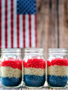 Fourth of July Mason Jar Votives | Mason Jar Crafts Love