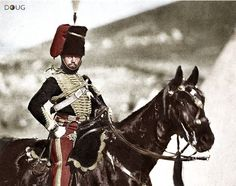Cornet Henry John Wilkin, 11th Hussars (c. 1855) - He rode in the 'Charge of the Light Brigade' as the Assistant Surgeon 25th Oct. 1854 (aged 25)