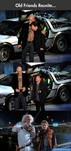 Old friends reunite - Back to the Future